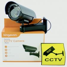 Kingavon Dummy CCTV Camera - Black