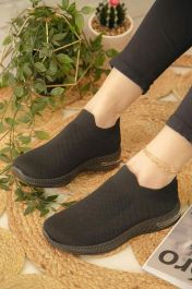Knitted Sock Trainers Black