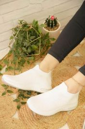 Knitted Sock Trainers White
