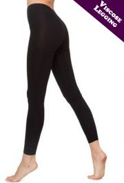 Ladies Black Viscose Leggings
