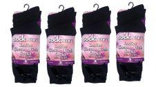 Ladies Cotton Rich Black Socks With Bow (Dozen)