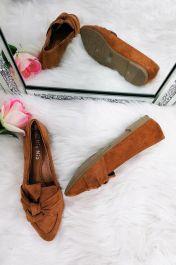 Ladies Flats Shoes Camel