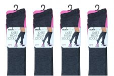Ladies Grey Knee High Socks (12pairs)