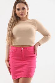 LADIES HIGH WAISTED PINK SKIRT