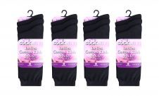 ladies Lycra Black Socks (Dozen)