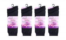 Ladies Cotton Rich Black Socks (Dozen)