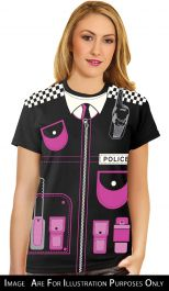 Ladies Police Printed T-Shirt