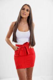 Ladies Red Skirt