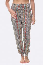 Ladies Tribal Aztec Print Alibaba Harem Trousers