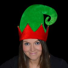 Large Velour ELF Hat with Bells