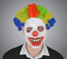 Latex Clown Mask With Wig