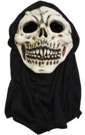Latex Skull Mask w/Hood