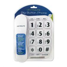 Lectrolite Jumbo Button Phone - White