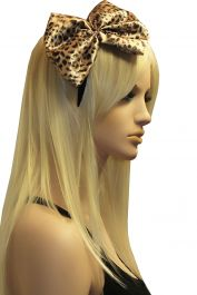 Leopard Flower Head Band