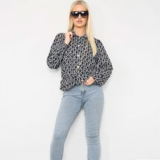 Letter Printed Shirt With Matching Bag Black
