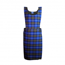 Light Blue Tartan Bib Pinafore