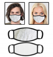 Light Grey Cotton Face Mask With Filter Pocket