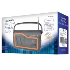 Lloytron AM/FM Portable Radio - Battery Operated Mains