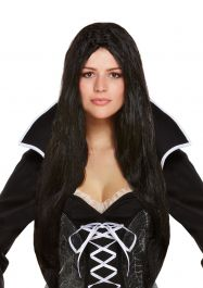 Long Black Witch Wig (65cm / 130g)