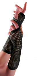 Long Fishnet Gloves Black (Dozen)
