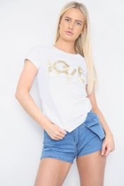 Love Embellished T-Shirt White