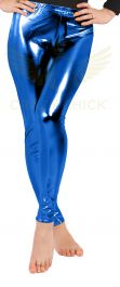 Luxury Royal Blue Shiny Metallic Leggings