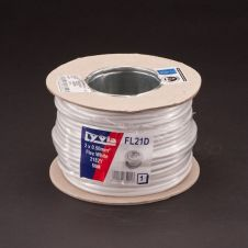 Lyvia 2182Y White Cable - 2 x 0.50mmx 50m