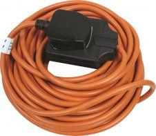 Masterplug Outdoor Heavy Duty Cable Reel Orange - 10m 1 Gang
