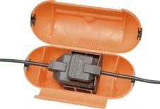 Masterplug Splashproof Plug & One Gang Socket Cover