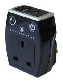 Matrix Surge Adaptor With 2 USB Sockets