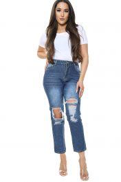 Medium Blue Boyfriend Jeans
