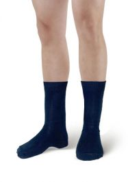 Men Navy Ankle High Socks(12 Pairs)