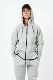 Mens Diagonal Stitching Tracksuit Grey