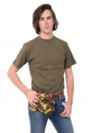 Men Green Crew Neck Army T-Shirt