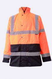 Mens High Visibility Bomber Jacket 2 Tone Orange