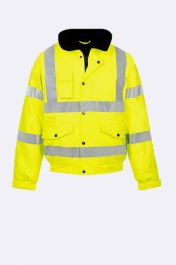 Mens High Visibility Bomber Jacket Neon Yellow