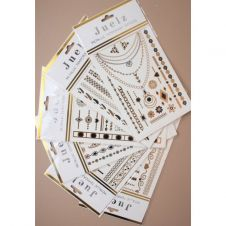 Metallic Temporary Tattoos Black/Gold