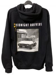 Midnight Drivers   Unisex Black Hoodie