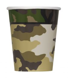 Military Camo 9 Oz Cups (Pack of 8)