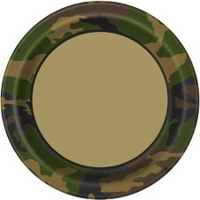 Military Camouflage 9 Inches Plates (Pack of 8)