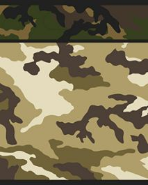 Military Camouflage Loot Bags (Pack of 8)