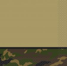 Military Camouflage Lunch Napkins (pack of 16)