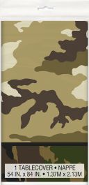 Military Camouflage Plastic Tablecover