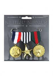 Military Hero Medals (3 Pcs Pack)