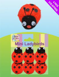 Mini Ladybirds (Pack of 6)
