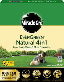Miracle Gro Natural 4 in 1 Feed, Weed & Mosskiller - 85sqm