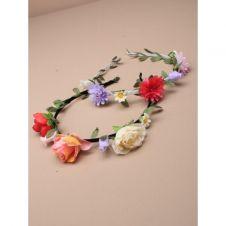 Narrow aliceband with flower