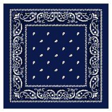 Navy Blue Paisley Bandana (1 Dozen)