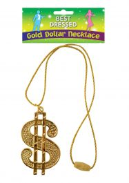 Necklace Dollar Gold 11cm W/67cm Cord