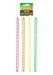 Neon Beads Necklace 4 Assorted Colors